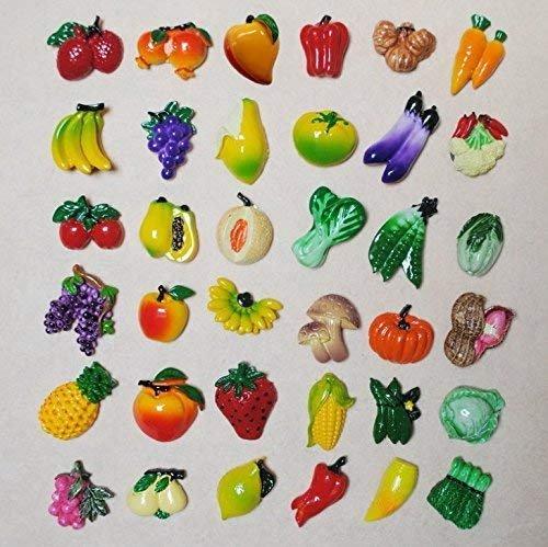 Gwill 20 STÜCKE Obst/Gemüse Kühlschrankmagnet Schöne Dekoration Bord Magnetische Aufkleber Ornament (Pack von 20 STÜCKE, 10 Obst Stil + 10 Gemüse Stile)