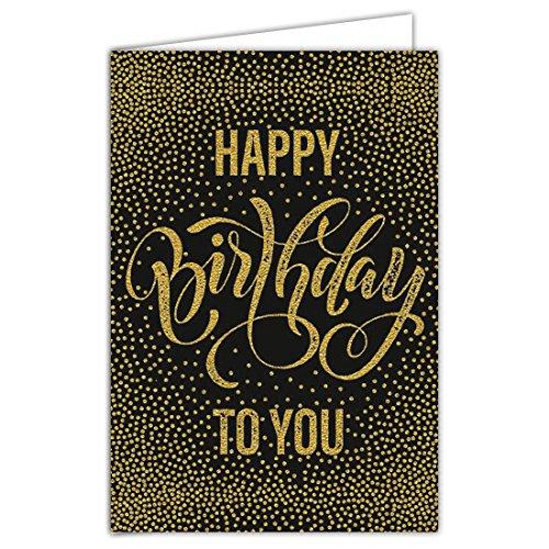rte Geburtstag Text Happy Birthday To You mit Heißfolie Format 12x 17,5cm + Umschlag weiß ()