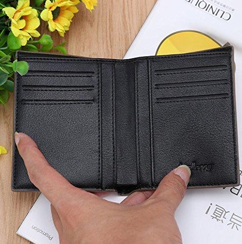 Dairyshop Sacchetto della borsa dei soldi della tasca della moneta del supporto della carta del raccoglitore di affari degli uomini di modo (Blu) Nero