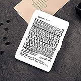BHTZHY Custodia Smart Cover per Il 2018 Amazon Kindle Paperwhite 4 10 E-Reader Custodia Bianca per Il Testo Personal Case New Kindle Paperwhite 4 Cover