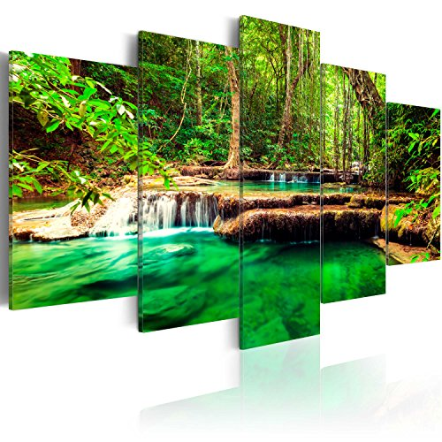 Murando - Cuadro Lienzo 200x100 cm Cascada Impresión