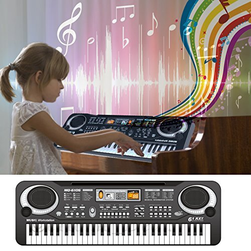 61 Keys Digital Music Electronic Music Keyboard Key Board Musical Electric Piano Organ Microphone Multifunction Key Board Portable LED Display New