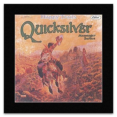 Quicksilver Messenger Service - Happy Trails 1969 Mini Poster - 30x30cm