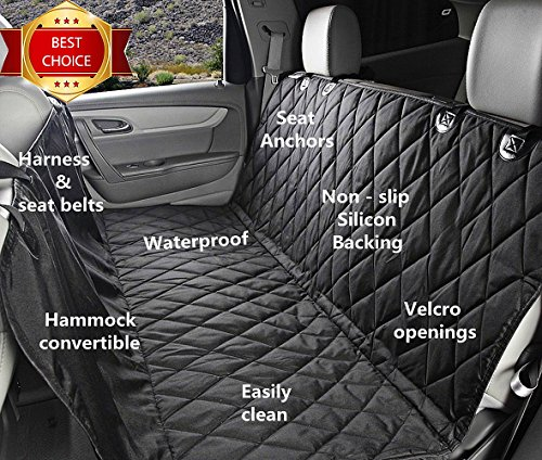Fragralley Dog Seat Cover Unique Design & Detachable Sherpa Fleece Mat – Ultimate Pet Back Seat Covers for Cars, Trucks… 3