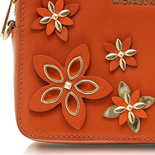 Flowers Kors Michael Handtasche Damen 32H6GFAM2T Clutch Henkeltasche Abendtasche Orange Tasche Schultertasche afHxOH5Pqn