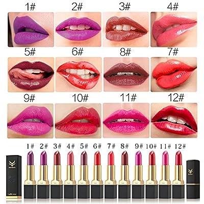 Yitla Matt Langlebig Lipgloss Wasserdichte Vampire Lippenstift,12 Farben von Yitla - Du und dein Garten