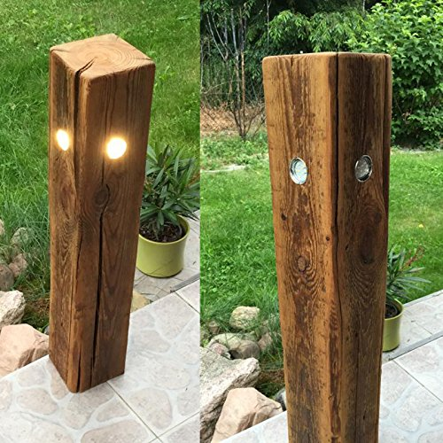 garten lampe leuchte gartenleuchte standleuchte aussenleuchte altholz led quatro ca 80 cm. Black Bedroom Furniture Sets. Home Design Ideas