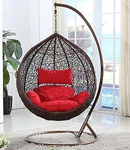 xl h ngesessel mit gestell vogelnest von elfnick inkl polster d braun k che. Black Bedroom Furniture Sets. Home Design Ideas