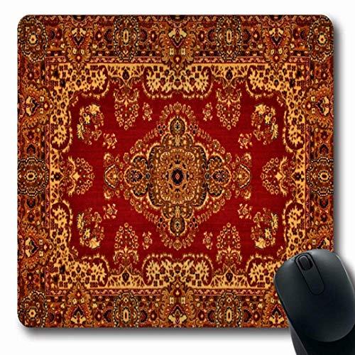 Luancrop Mousepads Roter orientalischer persischer Teppich-Weinlese-aufwändiges Muster-Alter königlicher ethnischer Entwurf rutschfeste Spiel-Mausunterlage Gummilangmatte -