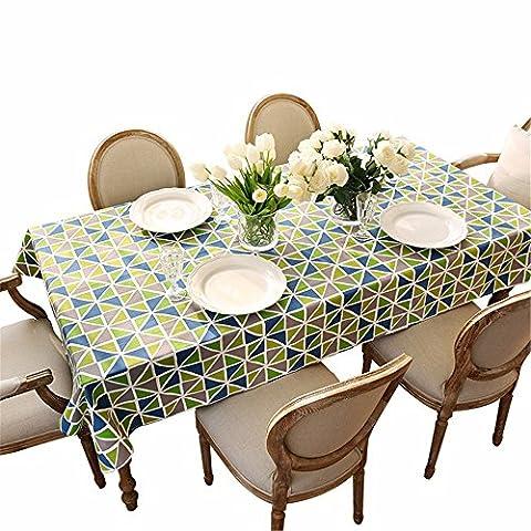 RFVBNM Amerikanischen Dorf Geometrie Stempel Leinwand dicken Stoffen minimalistische Tische