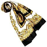 Lorenzo Cana Luxus Damen Seidentuch aufwändig bedruckt Tuch 100% Seide 100 x 100 cm harmonische Farben Damentuch Schaltuch