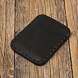 Noir Portefeuille en cuir pour Carte de crédit, argent comptant ou titulaire d'identification. Pochette unisexe style rustique.