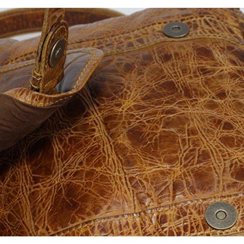 Billy the Kid Dillon Sac bandoulière cuir 29 cm honey