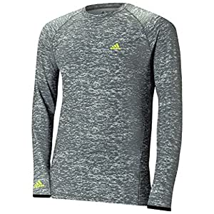 2015 Adidas Climawarm Mens Camo Print Crew Neck Shirt Longsleeve Baselayer Mid Grey Small