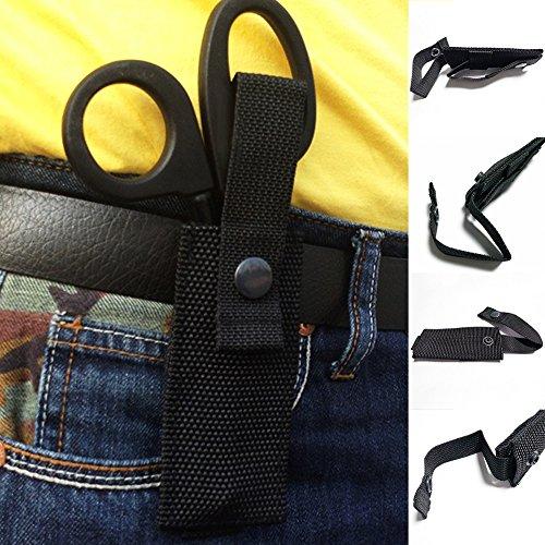 Lionina Outdoor Tactical EMT Medic Schere Mantel Scheren Beutel Hand Tools (Schwarz) -