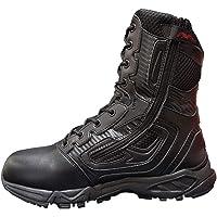 ZZMFC Bottes de l'armée Tactiques armée randonnée légère moitié Cuir/moitié en Nylon Lacets avec des Chaussures zippées…