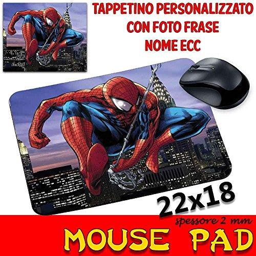 MyCust Mauspad mit personalisierbarem Pad, 2 mm, Kollektion Spider Man