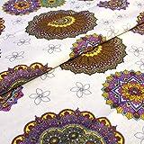 Hans-Textil-Shop Stoff Meterware Mandala Lila