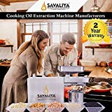 Savaliya Industries SI-702 Fully Automatic Stainless Steel Press Oil Maker Machine (Silver)