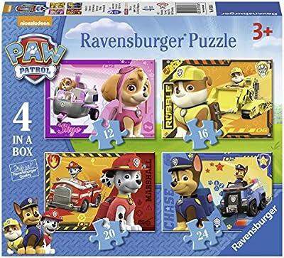 Paw Patrol - Paquete de 4 puzzles, en una caja (Ravensburger 07033 6)