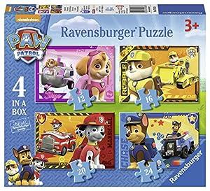 Paw Patrol Ravensburger 7033 Paquete de 4 puzzles en la caja
