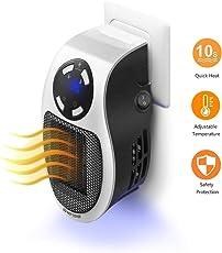 Heater Heizlüfter Elektrische Heizung Tragbare und leistungsstarke Mini-Heizung mit für die Steckdose Original Produkt aus TV-Werbung (Weiß)