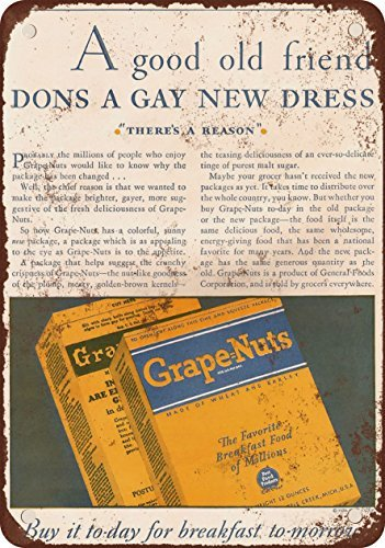 1930-general-alimentos-grape-nuts-aspecto-vintage-reproduccion-metal-tin-sign-8-x-12-pulgadas