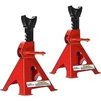 LZQ Lot de 2 chandelles d'essieu avec support en caoutchouc - Charge maximale par chandelle : 3000 kg