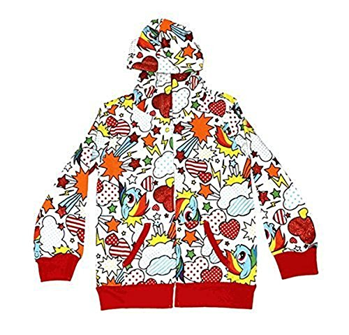 My Little Pony Rainbow Dash Fun Pattern Kleinkind weiß Hoodie Sweatshirt (Kleinkind 6X) (T-shirt 6x)