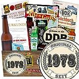 Original seit 1978 | Geschenk Idee Männer | Geschenkideen | Original seit 1978 | INKL. Markenbuch | Männerpaket | ausgefallene Geschenke für den Freund | mit Held der Arbeit Flaschenöffner, Bier, Schnaps und mehr