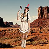 Kostümplanet® Indianerin-Kostüm Damen Indianer-Kostüm sexy Squaw Faschings-Kostüm Größe 40/42 -