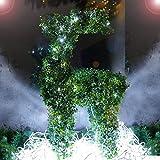 Rentier 82 cm hoch Buchsbaum Figur 100 LED beleuchtet außen Weihnachten