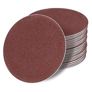 125 mm OHNE LOCH red Exzenter Schleifscheiben Sortiment SET 50 Scheiben P150 P120 P100 P80 P60 Klett Schleifpapier