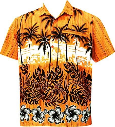 La-Leela-en-forma-peridica-aloha-hawaiano-botn-de-manga-corta-de-los-hombres-de-camisa-de-oro-hawaiano