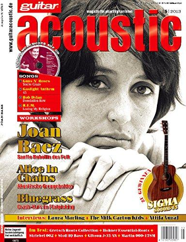 guitar acoustic 5 2013 mit CD - John Baez - Interviews - Akustikgitarre Workshops - Akustikgitarre Playalongs - Akustikgitarre Test und Technik - Akustikgitarre Noten