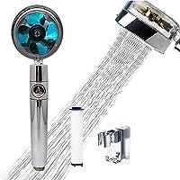 Pommeau de douche à main à hélice haute pression, pommeau de douche à 360 ° Pomme de douche rotative à économie d'eau…