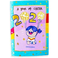 Alicia Souza - 2020 Year of Cheer Pocket Planner | Monthly Grid View | Gold Foil Cover | Cute Illustrations | Size - Height - 10cm; Width - 15cm
