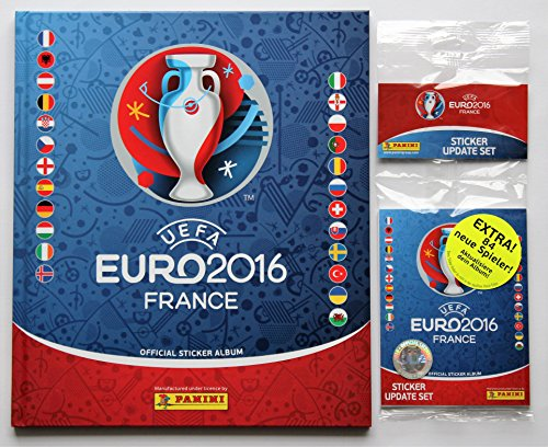 Panini UEFA EURO 2016 France - Hardcover Deluxe Album + Update Set 84 Sticker