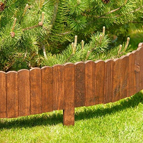 Beetumrandung Holz als steckzaun in 200 cm länge zaunhöhe 20 cm aus holz als