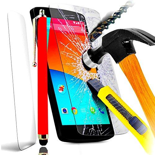 PAcK INCASSABLE A&D® FILM PROTECTION Ecran en VERRE Trempé pour SAMSUNG GALAXY J5 filtre protecteur d'écran INVISIBLE & INRAYABLE vitre + STYLET ROUGE pour Smartphone Galaxi J 5 dual double sim 8go 16 go or duos SM J500 SM-J500F android 3g 4g