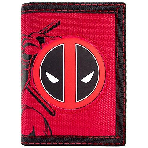 Marvel Deadpool Kämpfen Charakter mit Logo Rot Portemonnaie ()