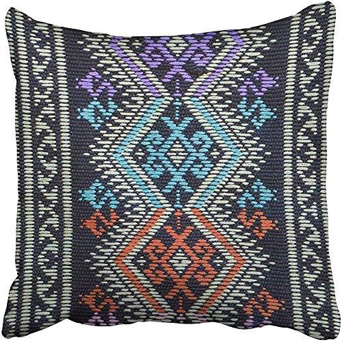gthytjhv Wurfkissenbezugs 18 x 18 Inches Blue Asian Thai Fabrics Patterns Detail Color Batik Pink Abstract Artistic Pillow Case Decorative Cushion Cover Two Sides Print Pillowcase Thai-batik