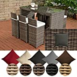 CLP Poly-Rattan Garten-Bar Set LENOX