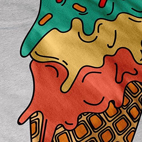 Eis Sahne Trödel Cool Essen Geschmack Schild Damen S-2XL Muskelshirt | Wellcoda Grau