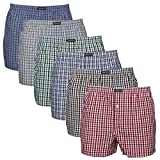Lower East Homme American Style Boxer, Lot 6 Lot de 6 Multicolore Medium