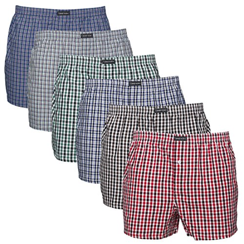 Lower East American Style, Bóxer, Hombre, Multicolor, XL Pack de 6