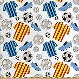 ABAKUHAUS Fußball Stoff als Meterware, Sport Kleidung