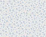 A.S. Création Vliestapete Liberté Tapete Landhaus Shabby Chic 10,05 m x 0,53 m blau metallic weiß Made in Germany 304882 30488-2