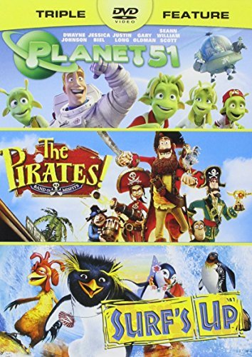 Pirates! Band of Misfits, the / Planet 51 / Surf's up - Vol (Surf Filme, Dvd)