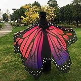 Overdose 197*125CM Frauen Weiche Gewebe Schmetterlings Flügel Schal feenhafte Damen Nymphe Pixie Kostüm Zusatz (197*125CM, Hot Pink) - 4